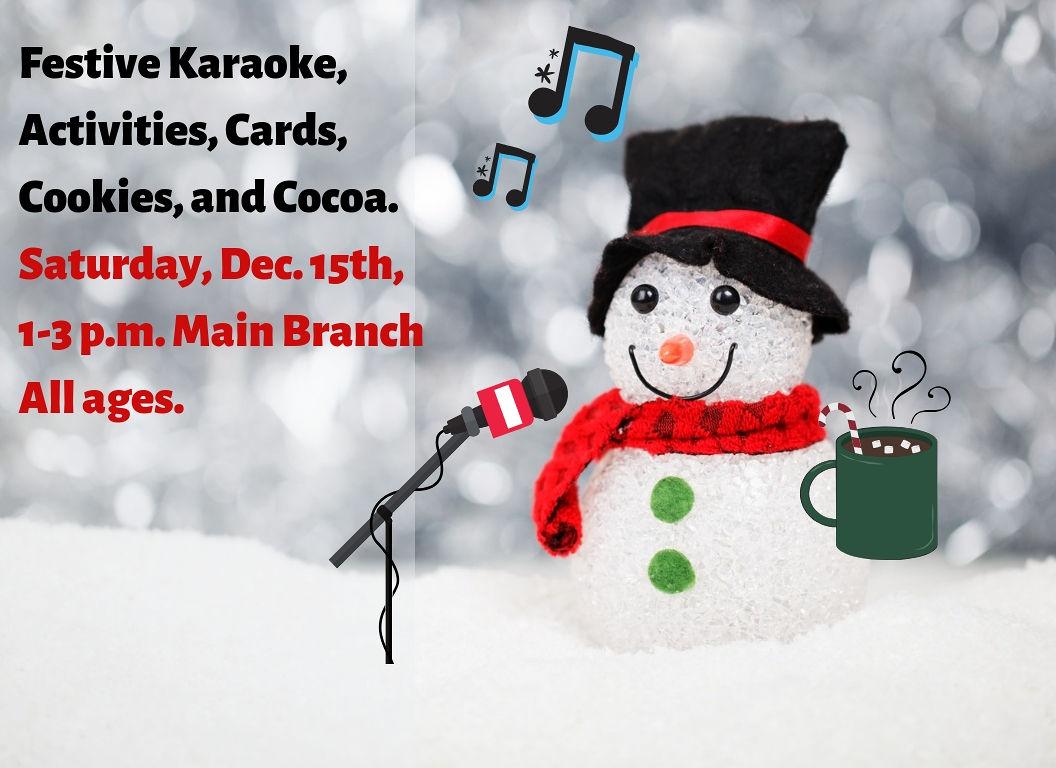 Festive Karaoke, Cards, and Cocoa | Events | Tacoma Public